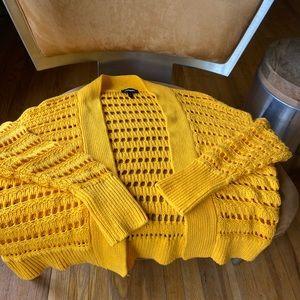 Yellow knit cardigan